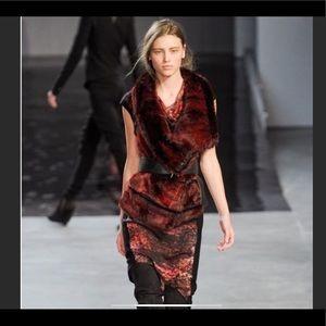 Helmunt Lang midnight Floral dress size 2